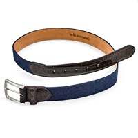 Cashmere and Crocodile Belt, Navy