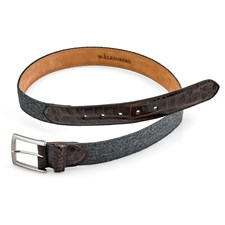 Cashmere and Crocodile Belt, Gray