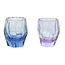Moser Cubism Double Old Fashioned Glasses