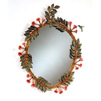 Hummingbird and Trumpet Vine Mirror