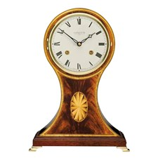 Inlaid Mahogany Balloon Mantel Clock