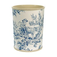 Country Life Wastebasket, Blue