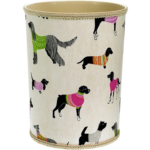 Dogs on Parade Wastebasket
