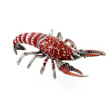 Sterling Silver and Enamel Lobster