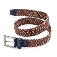 Stretch Belt, Orange and Teal