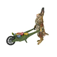 Austrian Bronze Rabbit with Wheelbarrow