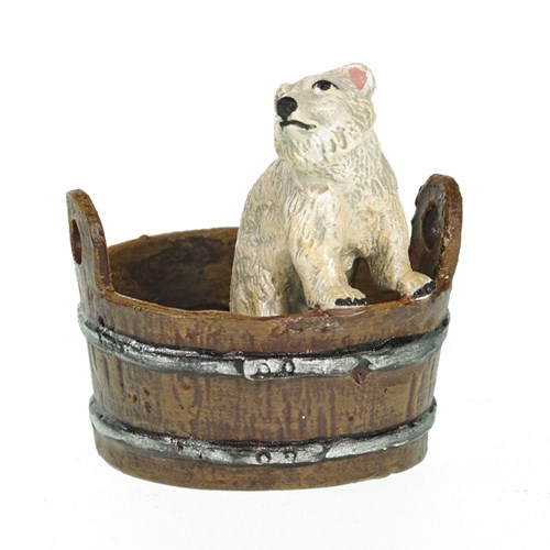 Austrian Bronze Polar Bear in Bucket
