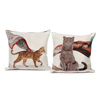 Tabby and Gray Cat Pillows