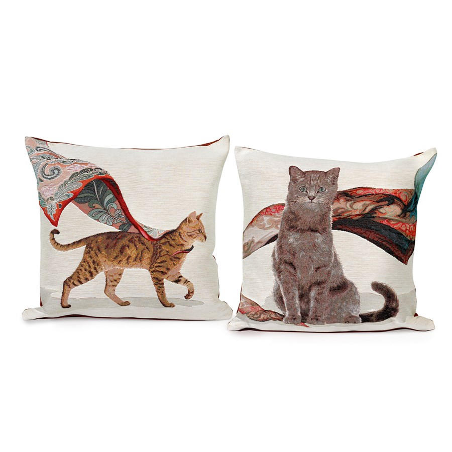 Tabby And Gray Cat Pillows Pillows Home Decor