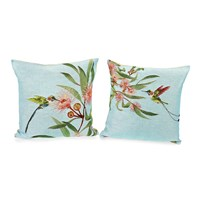 Eucalyptus and Hummingbird Pillows