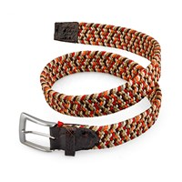 Stretch Belt, Orange and Brown