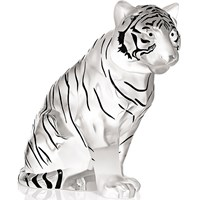 Lalique Crystal Sitting Tiger Grand Sculpture