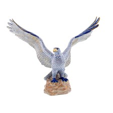 Herend Eagle on Rock, Sapphire