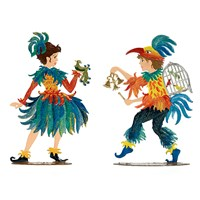 Pewter Papageno and Papagena Figurines