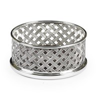 Sterling Silver Basket Weave Coaster