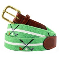 Crossed Clubs Petitpoint Belt