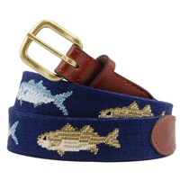 Bluefish and Striper Petitpoint Belt