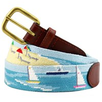 Beach Scene Petitpoint Belt