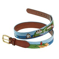 Harbor Scene Petitpoint Belt