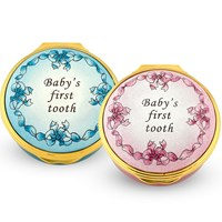 Halcyon Days Baby's First Tooth Enamel Box