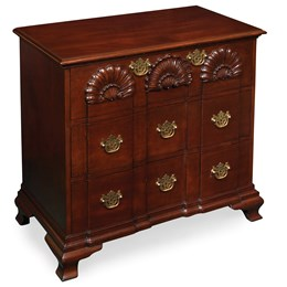 Newport Mahogany Shell Three-Drawer Chest