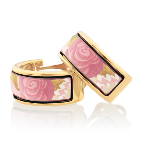 Freywille Floral Symphony Rose Pastell Creole Earrings, Posts
