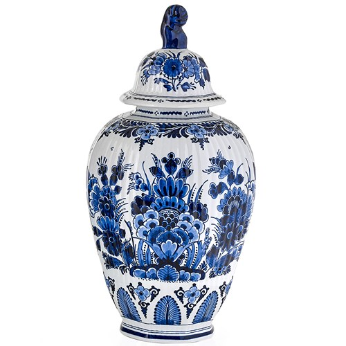 Blue Royal Delft Handpainted Jar with Finial