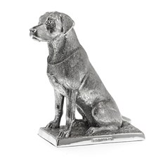 Sterling Silver Labrador on Base Sculpture