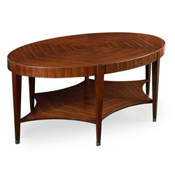 Rosewood Oval Cocktail Table