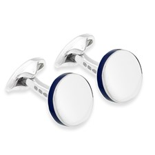 69228a012e8a4 Sterling Silver Round Cufflinks ...