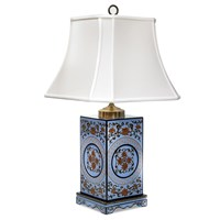 Chinoiserie Box Lamp, Light Blue