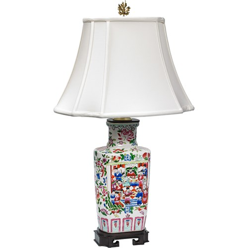 Floral and Chinoiserie Lamp
