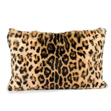 Rabbit Fur Printed Leopard Pillow
