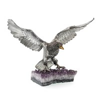 Sterling Silver Eagle on Amethyst