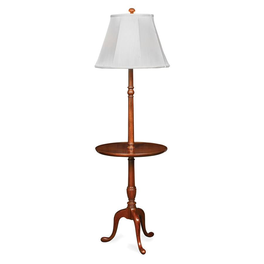 Merveilleux Mahogany Floor Table Lamp. Hover To Zoom