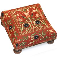 Primrose Tapestry Footstool, Red