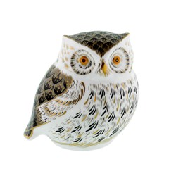 Royal Crown Derby Gray Owl Paperweight