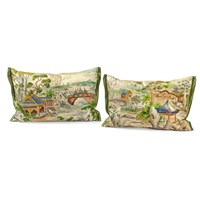 Pagoda Silk Pillows