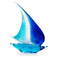 Murano Glass Sailboat, Blue