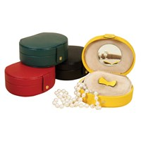 Small Oval Leather Jewelry Cases