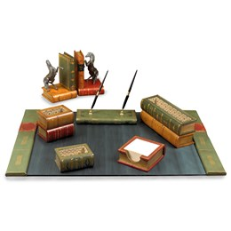 Leather Books Desk Set
