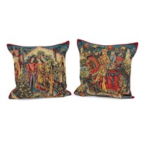 King Arthur Avalon and Camelot Tapestry Pillows
