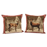 Winter Deer Tapestry Pillows