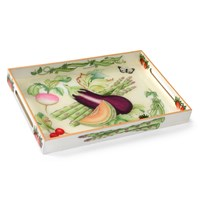 Summerlea Aubergine & Melon Lacquered Tray