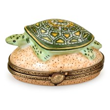 Turtle on Sand Limoges Box