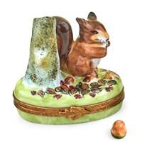 Squirrel Limoges Box