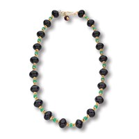 Black Onyx and Chrysoprase Necklace
