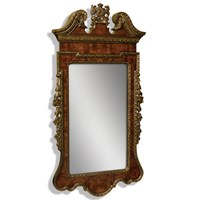 Mahogany Gilt Mirror