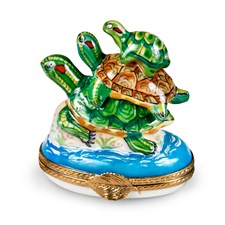 Stacking Turtles Limoges Box