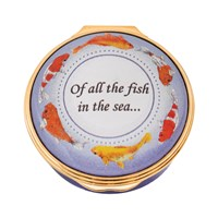 Halcyon Days Of All the Fish in the Sea Enamel Box